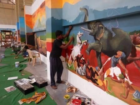 KIIT mural art culture