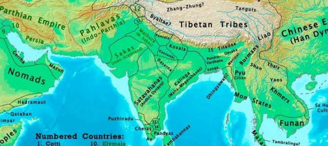 Look at How big was the Kalinga Empire : A nice article on different maps of Indian History