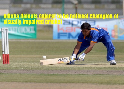 Odisha blind cricket champion