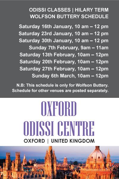 odissi classes in oxford university