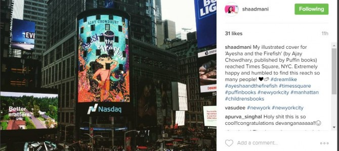 Awesome to see Cover Designed by Odia Girl Devangana Dash showcasing in Times Square New york