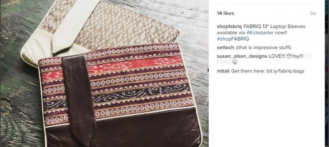 Mitali and Bryna Hubbs Launch a startup FABRIQ in San Francisco for Modern Handbags with Odisha touch