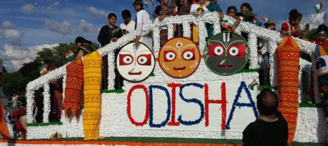 Chicago Odisha Society takes out a float for Independence Day Celebration in Naperville