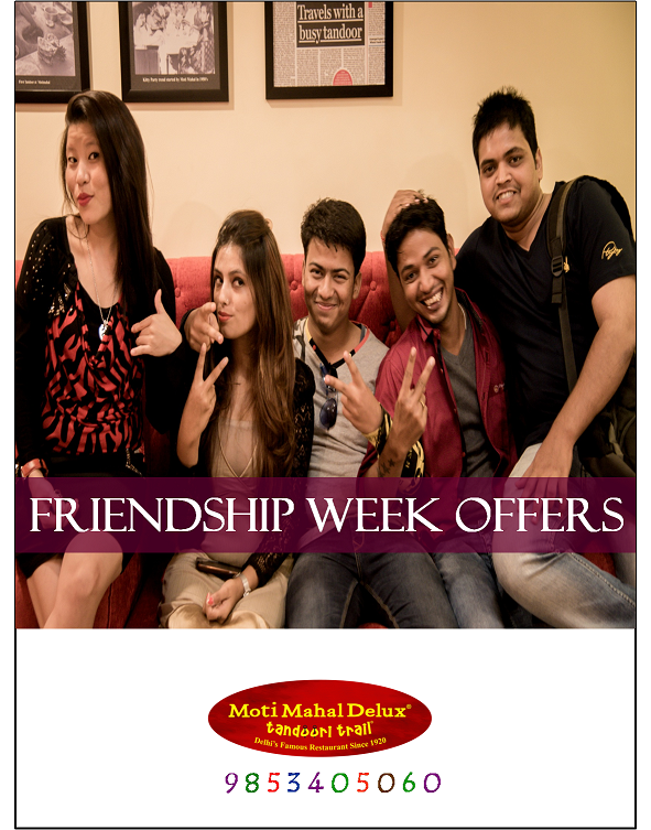 FRIENDSHIP DAY advertisement moti mahal
