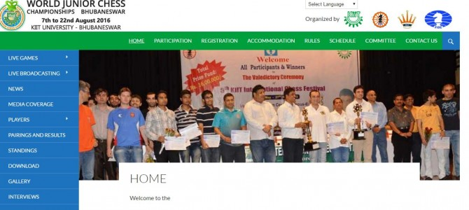 World Junior Chess Championship starts in Bhubaneswar from August 7-22