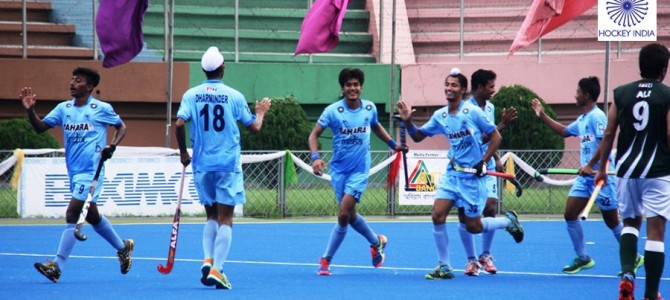 India U-18 Hockey Team led by Odisha boy Nilam Sanjeep Xess defeated Pakistan 3-1 in semifinal