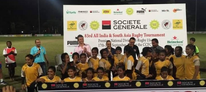 Odisha crowned champions at Inaugural All India Womens XVs Rugby tournament in Kolkata