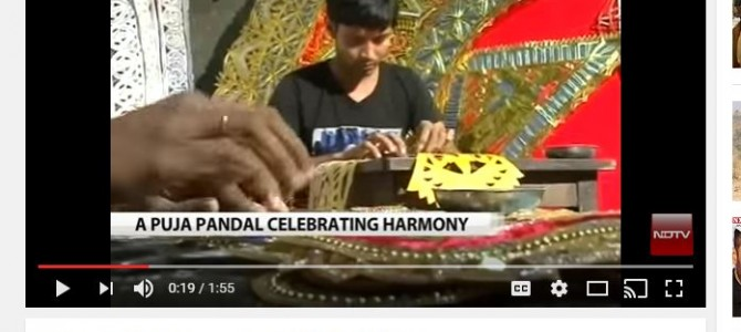 Watch the video of communal harmony in Cuttack for Durga Puja by NDTV