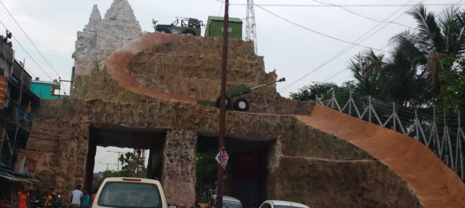 Uri attack on Indian Army replicated in Cuttack Khannagar Durga Puja pandal