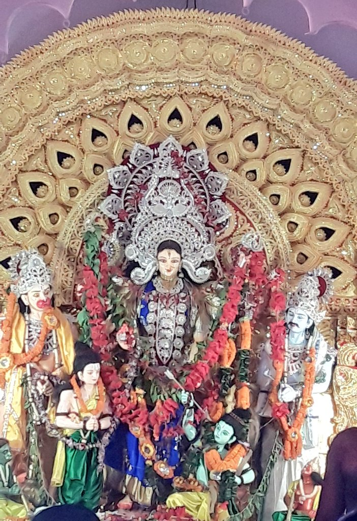 Unusual Durga idol at Deulasahi