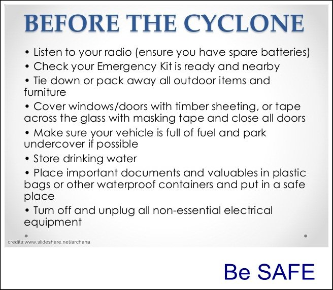 Emergency kit cyclone instructions 2