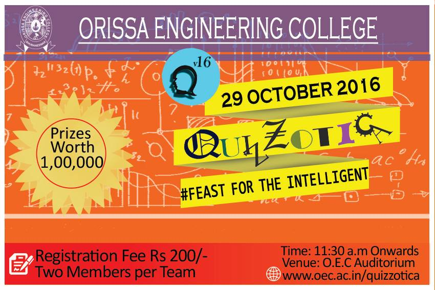 OEC Quizzotica events quiz bhubaneswar buzz