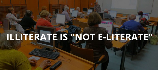 "Illiterate is ""not e-Literate"" : Shi/Internet Crow launches program to teach computer / Internet skills to Senior Citizens"