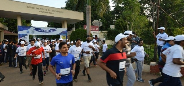 XIMB  Bhubaneswar completes X-Athon '16 marathon in the city today