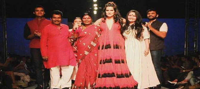 Nice to see Sona Mohapatra showcasing Kotpad Weaves of Odisha as showstopper in Amazon India Fashion week
