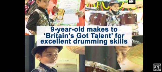 9 year old from Odisha made it to Britain Got Talent show for his drumming skills