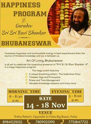 Happiness program with Sri Sri bhubaneswar buzz
