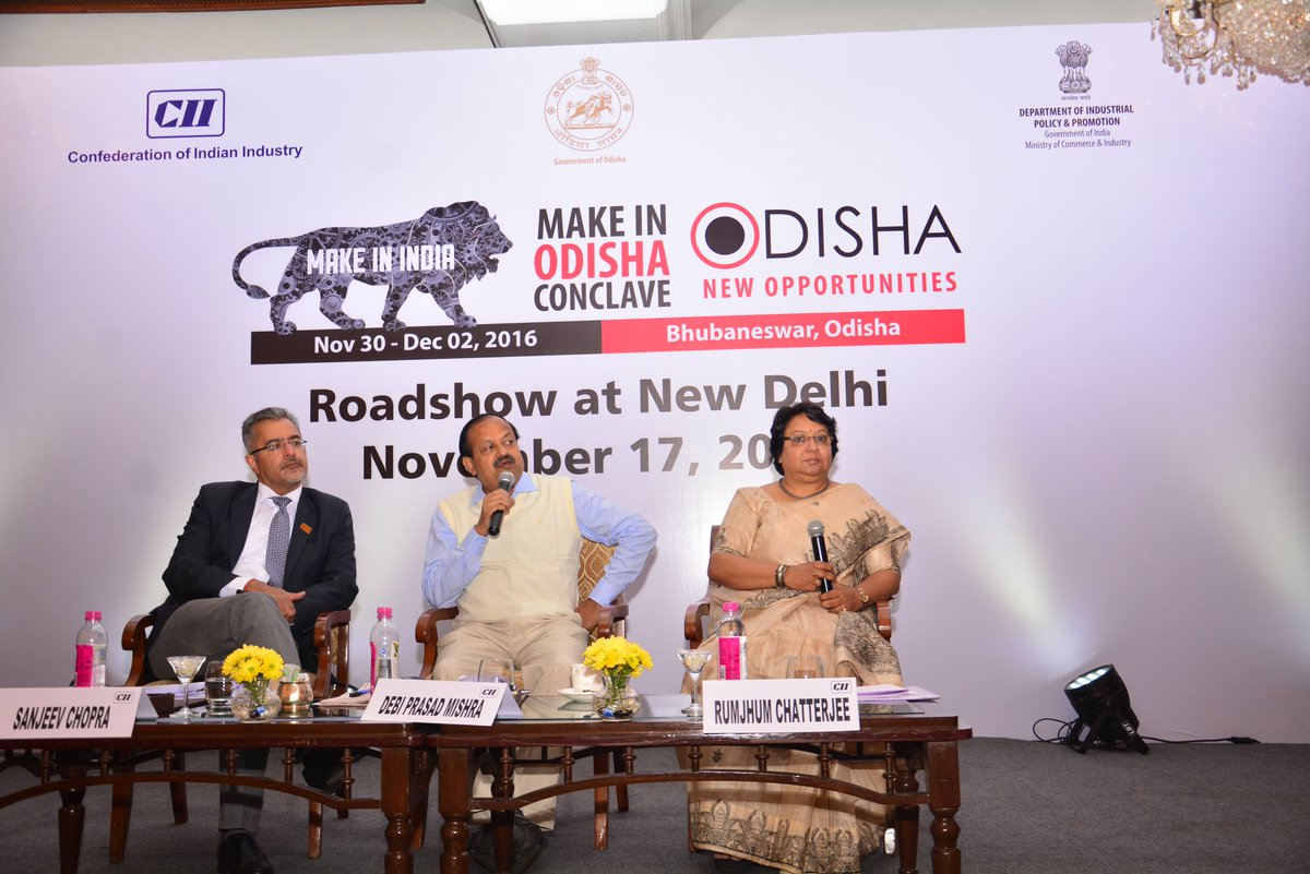 Make in odisha delhi roadshow