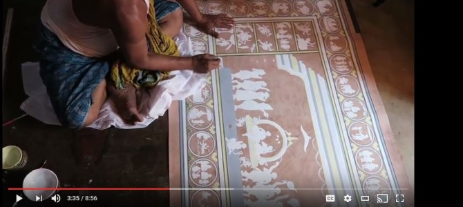 Beautiful Video by Vishwajeet Dash describes his visit to Raghurajpur Art Village