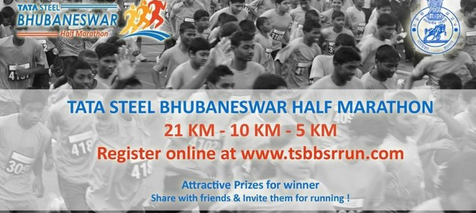 Mark Your calendars : Tata Steel Half Marathon in Bhubaneswar on January 8th