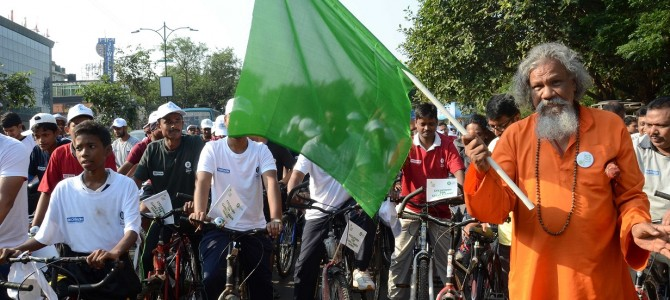 Oxfam India along with BMC and BDA organized a cyclothon in Bhubaneswar on 6th Nov