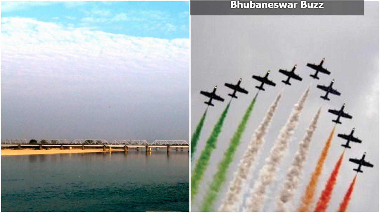 Airshow in kathajodi river odisha bhubaneswar buzz