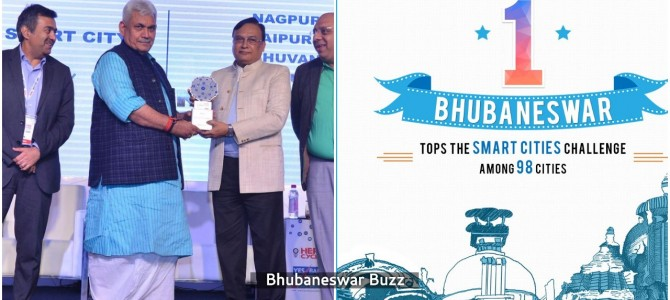 One more award for Bhubaneswar : bags Best Business World Smart City award in New Delhi