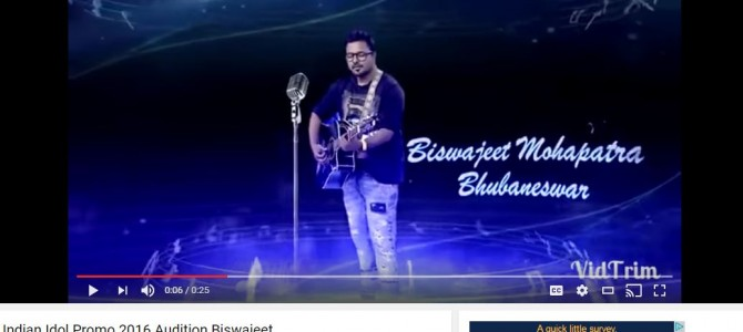 #IndianIdolIsBack : Watch out Biswajeet Mohapatra of Odisha this season, check audition video