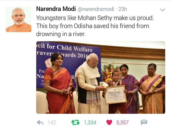 Mohan sethy bravery narendra modi