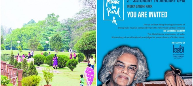 Music In the Park Monthly Edition today : At Indira Gandhi Park 6pm, be there