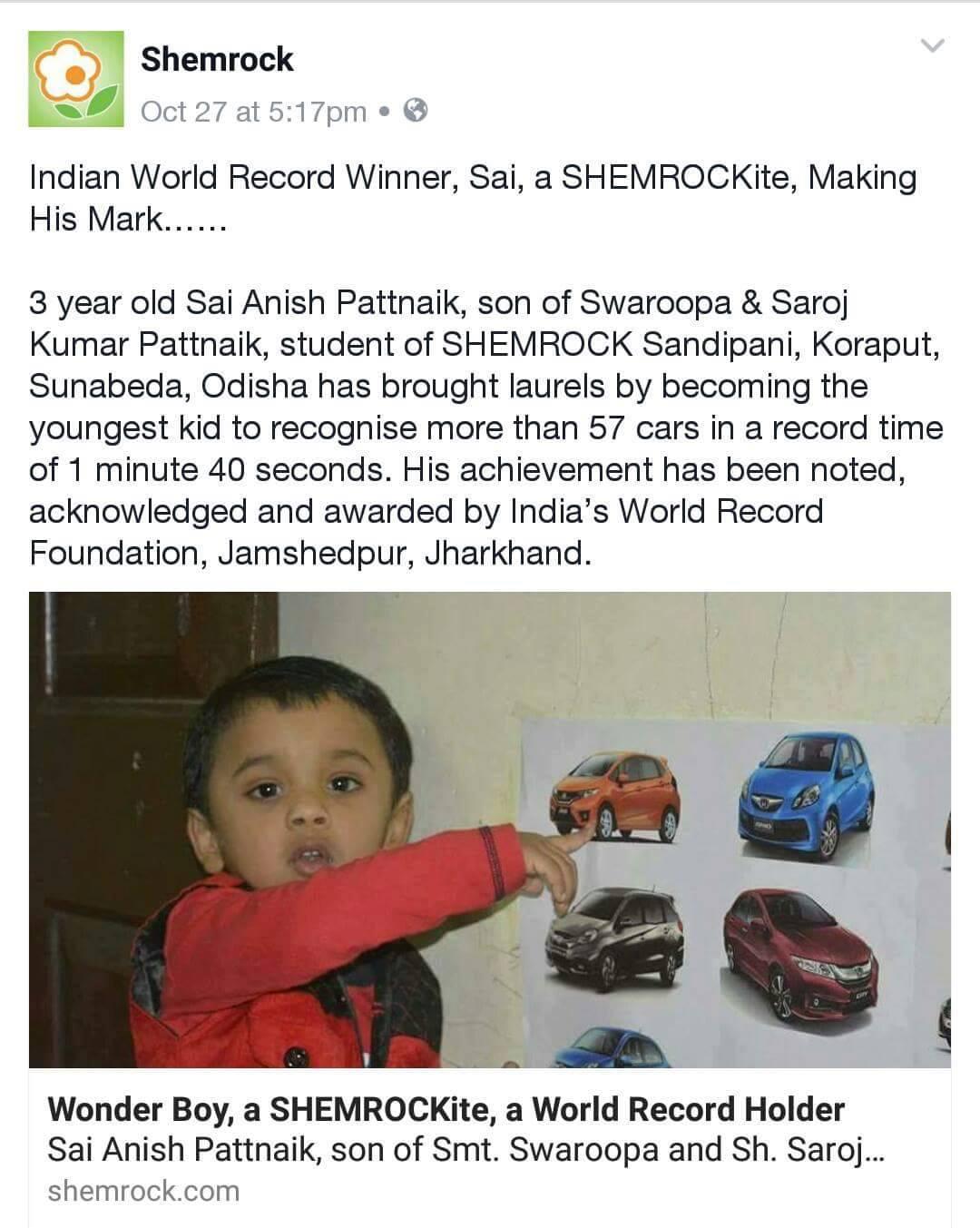 Shemrock brand ambassador Anish pattnaik bbsrbuzz 1