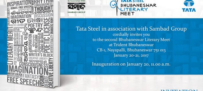 2nd Tata Steel Bhubaneswar Literary Meet all set for January 20 & 21 in the city