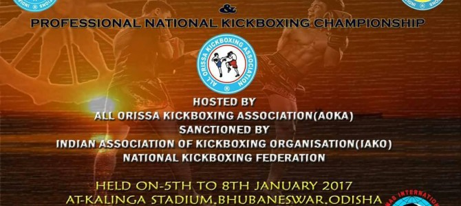 6th IAKO Indian Open 2017 along with Professional Kickboxing Championship going on in the city