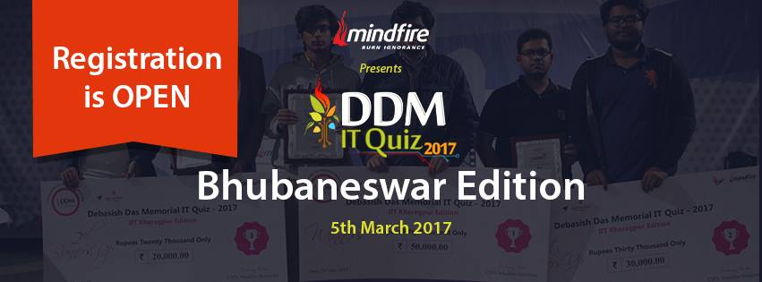 DDM IT quiz bhubaneswar buzz 2017