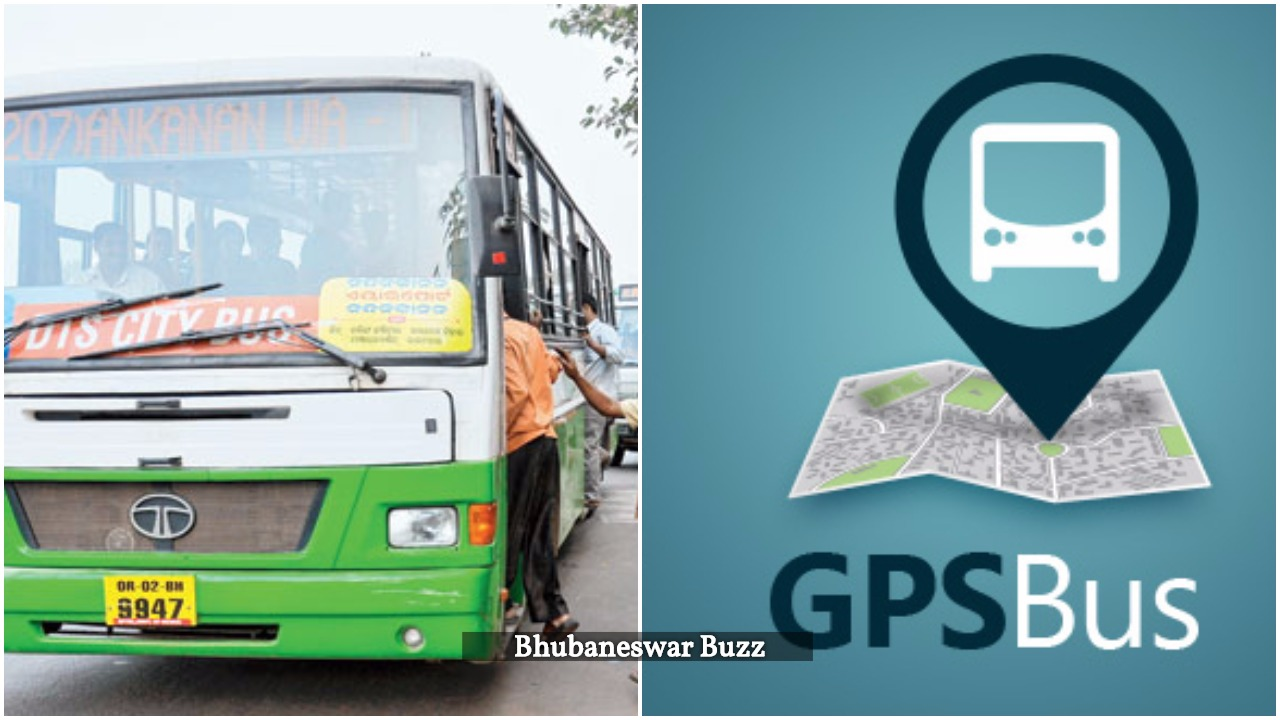 GPS enabled city bus bhubaneswar buzz
