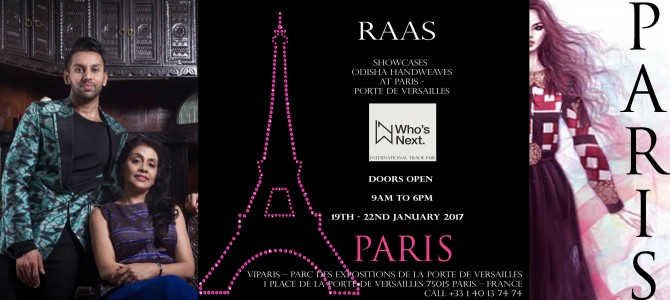 Nice to see Odisha Fashion Label RAAS present in Paris for International Trade Fair at Porte De Versailles
