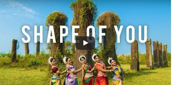 Shot at Heritage Sites of Bhubaneswar, an Odissi rendition to Ed Sheeran – Shape Of You