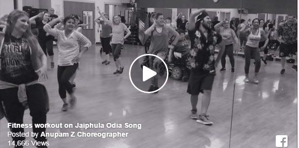 How about Odia Song Jaiphula as Zumba workout in USA? Anupam Nayak of Odisha has done it Connecticut USA