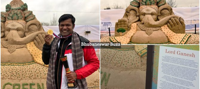 Representing India Odisha Sand art maestro Sudarsan Pattnaik wins  wins Jury prize Gold medal in Moscow