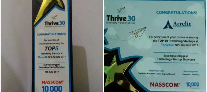 "Bhubaneswar based Deep Tech startup Arrelic grabs the first position at Nasscom Product Conclave ""Thrive 30"""