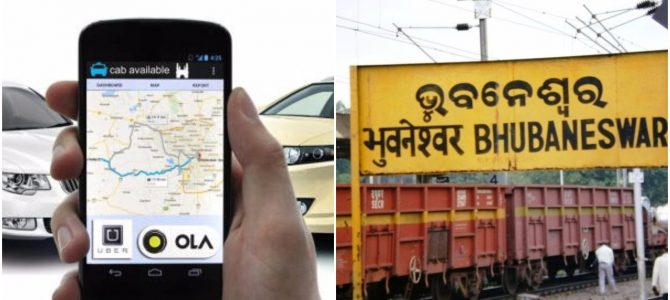 Online taxi aggregators like Uber and Ola cabs to get special Parking in Bhubaneswar railway station