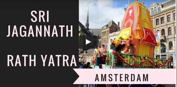 Jagannath Ratha Jatra in Amsterdam Netherlands : video sent by RajaJolly Sp