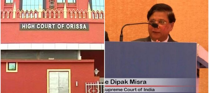 Following a letter from Chief Justice Dipak Misra, Odisha along with 4 other high courts working on Saturdays