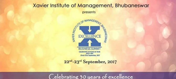 XIMB Bhubaneswar Business Excellence Summit scheduled for 22nd and 23rd September