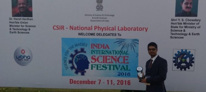 VSSUT team bags Best Innovation and Best Presenter Award at India International Science Festival