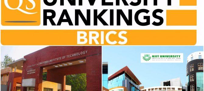 NIT Rourkela ranks 126, KIIT University ranks between 251-300 in QS BRICS University rankings recently released