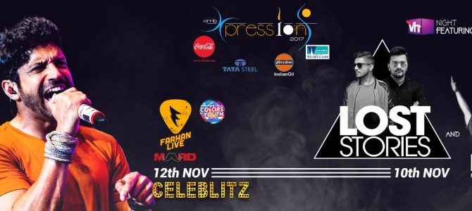 Xpressions, one of the biggest Management-Cultural fest in India, 3 day extravaganza starting from 10th Nov