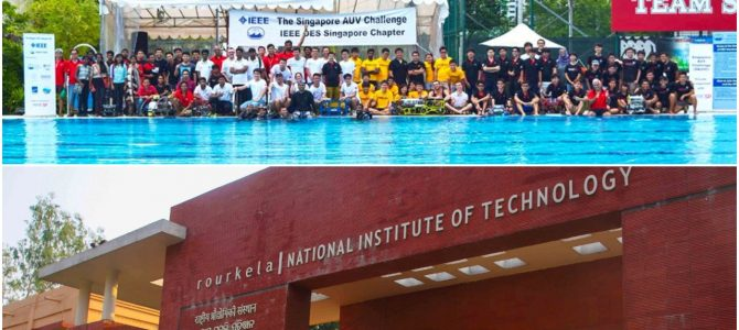 Competing against 46 countries, NIT Rourkela Odisha Team wins second place in Singapore Autonomous Under Water Vehicle Challenge