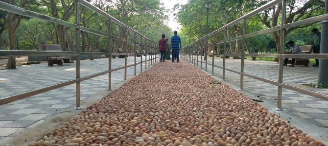 Bhubaneswar gets its first Accupressure Walkways in Biju Pattnaik Park