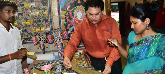 Tribal Cooperative Marketing Development Federation of India organized Laghu Adi Mahotsav a handicrafts exhibition in bhubaneswar